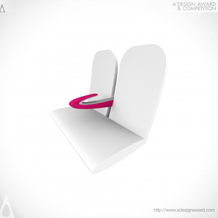 Paperclip Armrest Armrest For High-Density Seating by James Lee