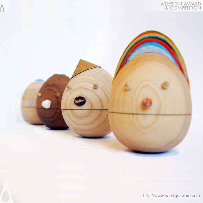 "Sha Yang - Tumbler"" Contentment &quot Roly Poly, Movable Wooden Toys"