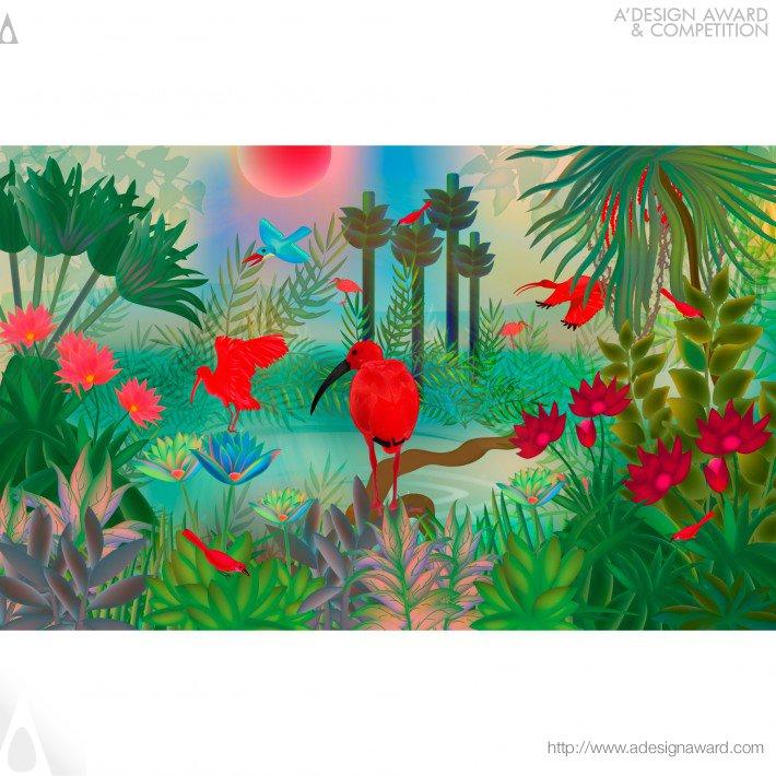 Scarlet Ibis (Visual Art Design)