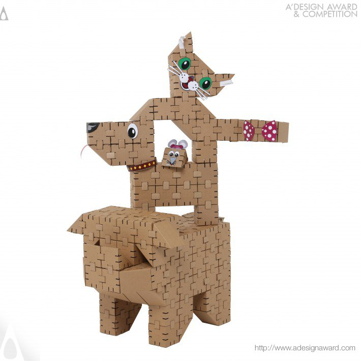 Yohocube Cardboard Construction Set by Yohocube
