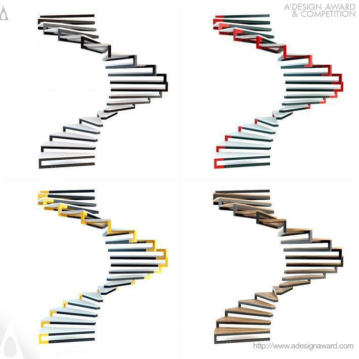UVine Staircase by Bora Yildirim Silver A' Design Awards Winner