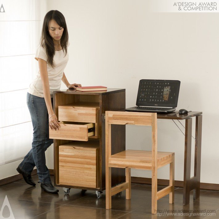Ludovico Office (Drawer, Chair & Desk Combo Design)