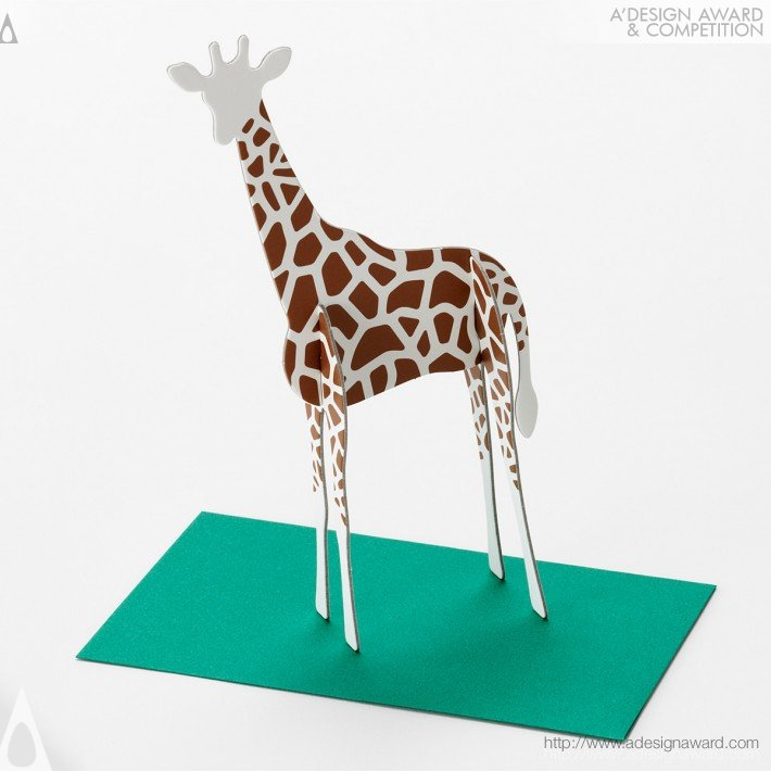"""Standing Message Card """"post Animal"""" (Message Card Design)"""