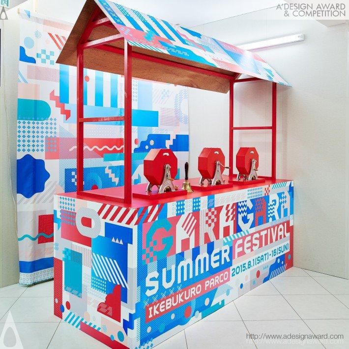 Garagara Summer Festival (Main Graphic, Poster, Pop Design)
