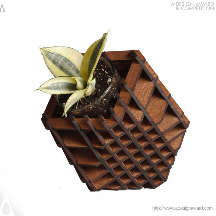 Cuboctahedron 7 Position Planter by Hexagón