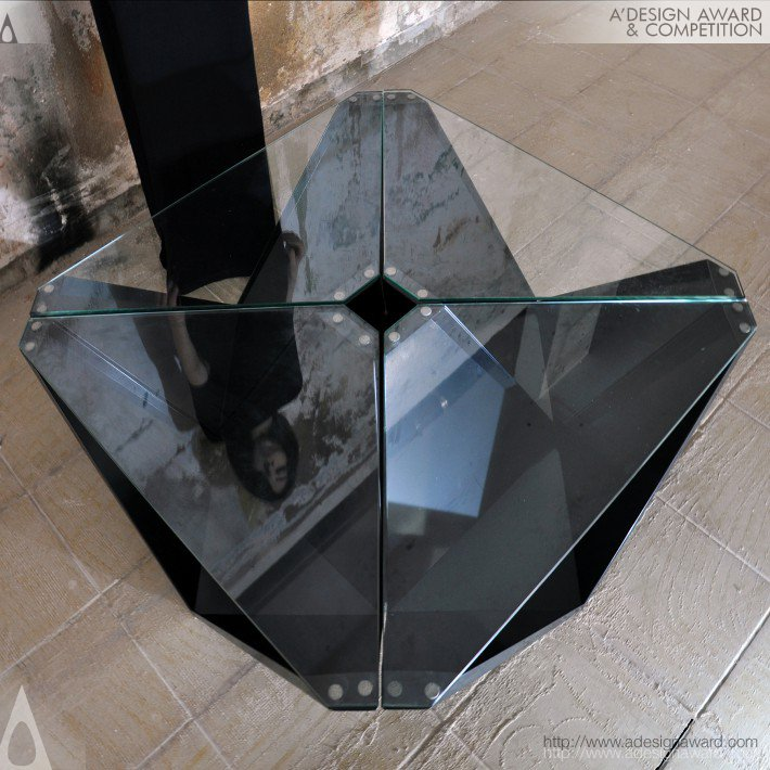 Dark Edge (Table, Stool, Shelf Design)