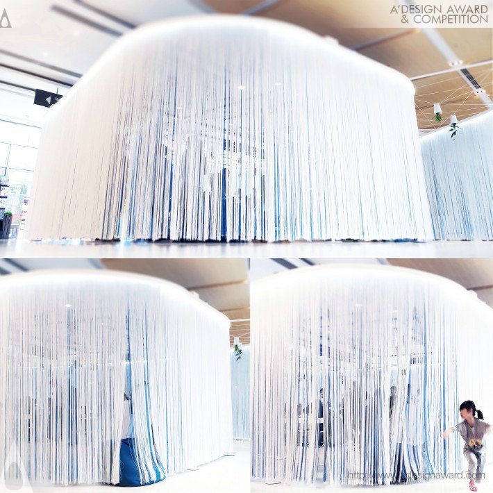 Airnemone Interactive Exhibition Pavilion by Kevin Chu