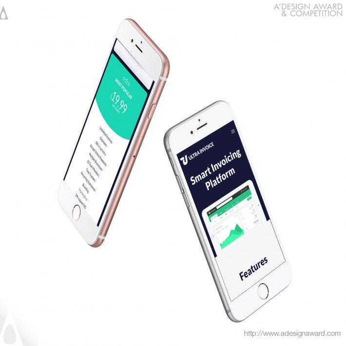 Ultrainvoice (Landing Page Design)