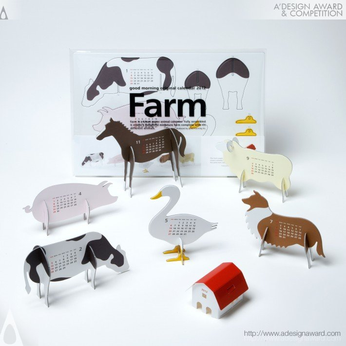 "Good Morning Original Calendar 2012 ""farm"" (Calendar Design)"