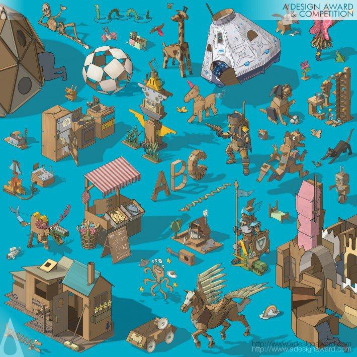 Makedo (Cardboard Construction System Design)