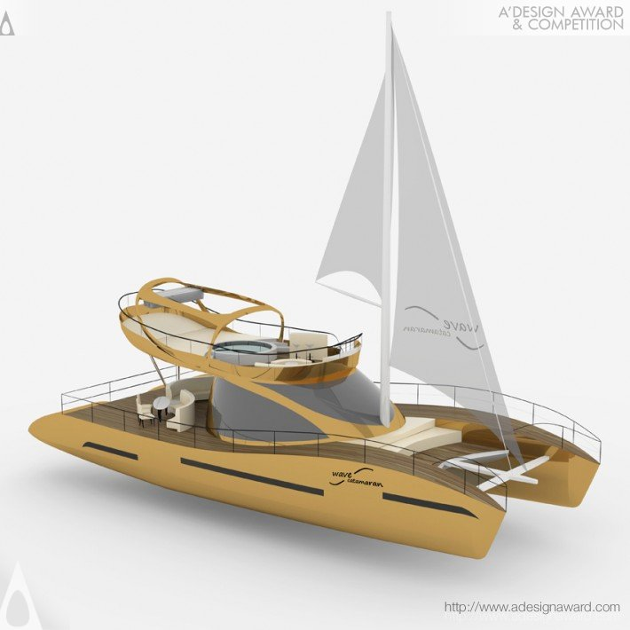 A 39 design award and competition wave catamaran cruiser for Press kit design