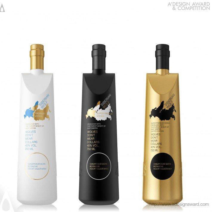 Siberian Wolf (Vodka Bottle Design)