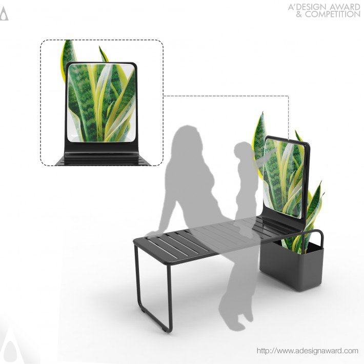Mirror Chair (Chair With Magnifying Glass and Planter Design)