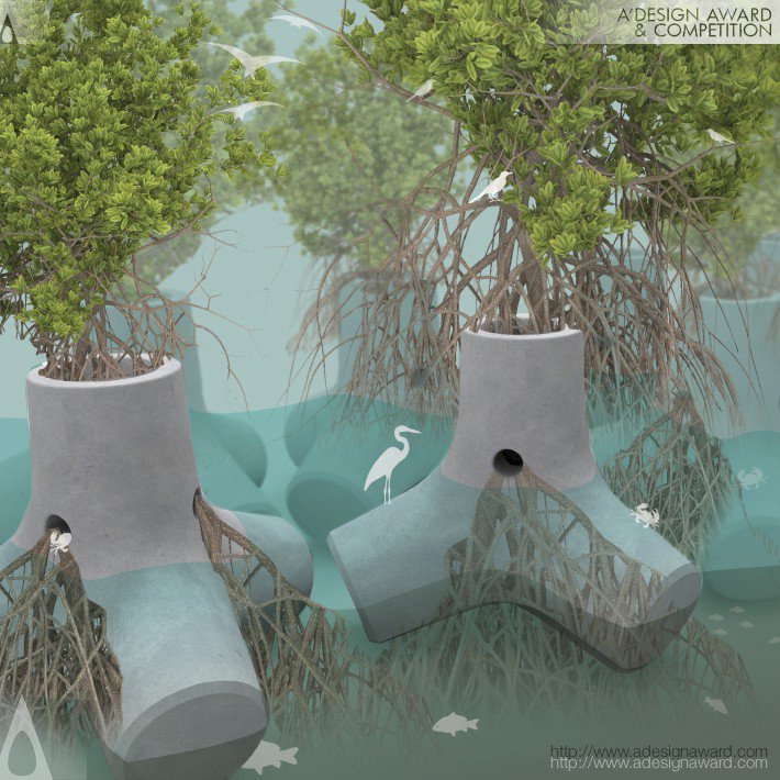 Tetrapot Green Sea Defence by Sheng-Hung Lee