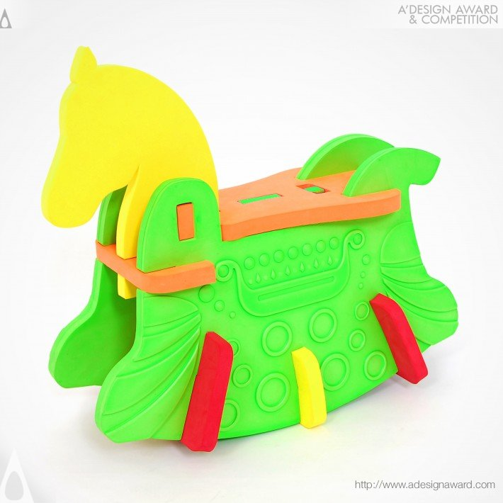 Upsize 3d Puzzle-Pony Alex Multifunctional Rocking Horse by Ng Ping Fun Alex