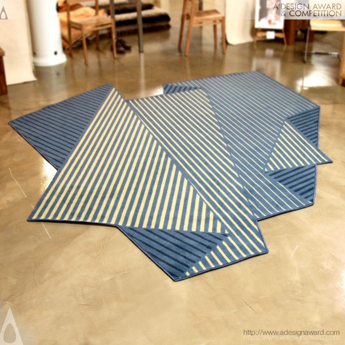 Folded Tones (Rug Design)