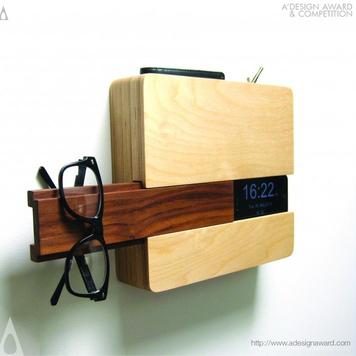 The Butler Home Organizer/Wall Clock by Curtis Micklish