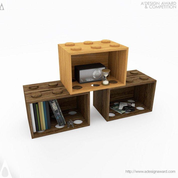 Giochiamo (Playful Shelf Unit Design)