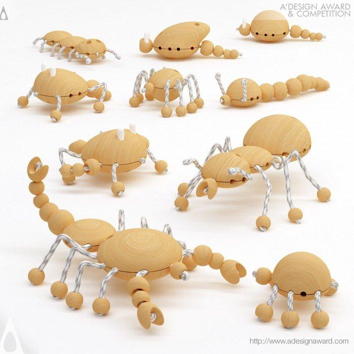 Creative Wooden Creatures (Wooden Toy Design)