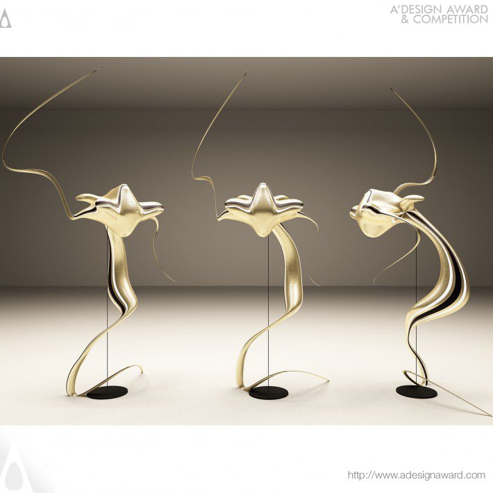 Alena - Silk Dragon Collection of Lamps in Neo-Modern Style