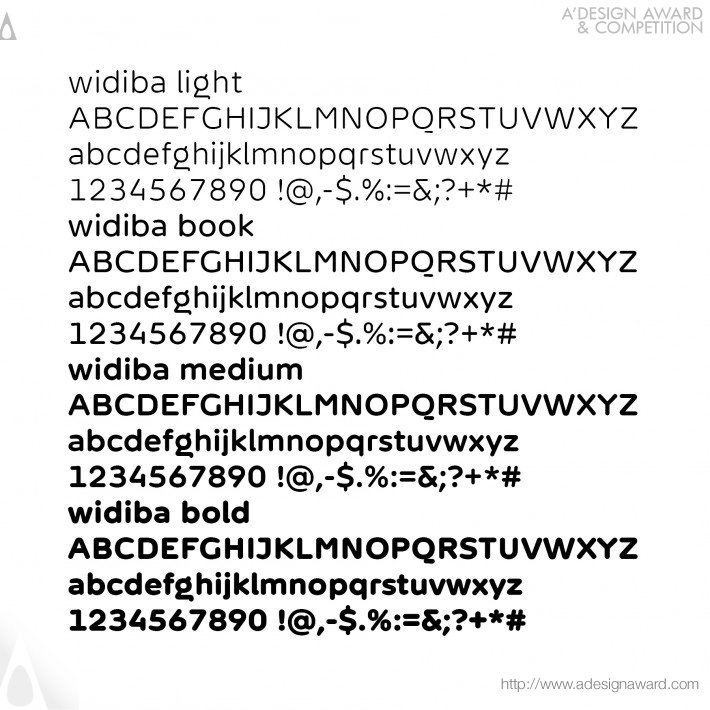 Widiba Font (Corporate Identity Design)