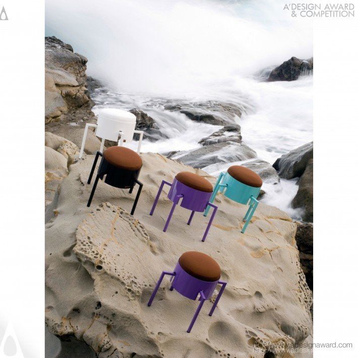 Barbecue Stool by Ginevra Grilz