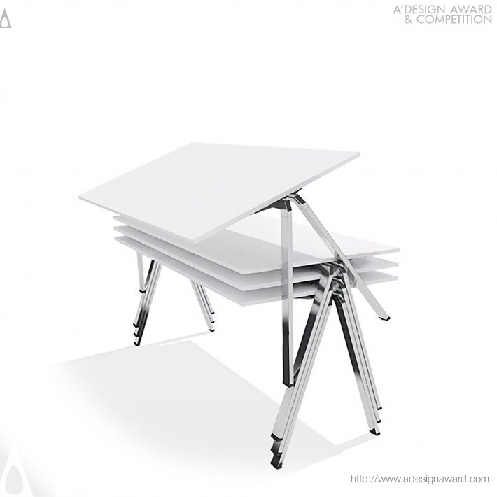Yuno Multifunctional Stacking Table by Andreas Krob