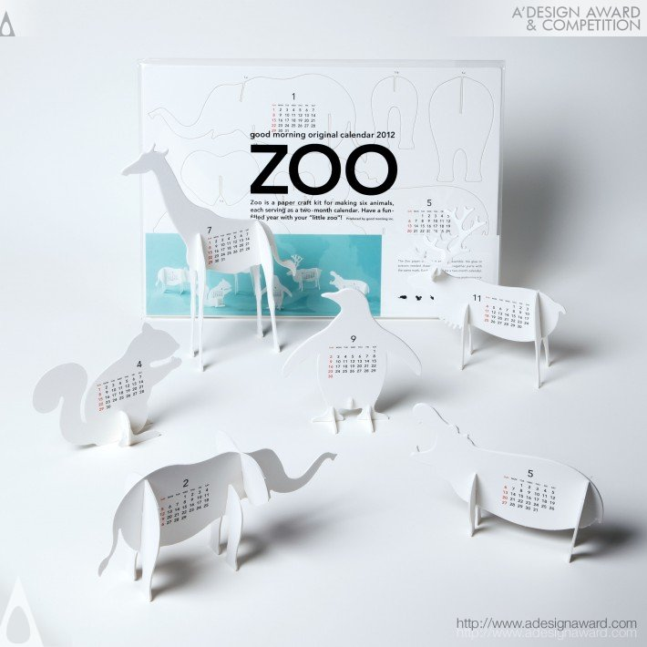 "Good Morning Original Calendar 2012 ""zoo"" (Calendar Design)"