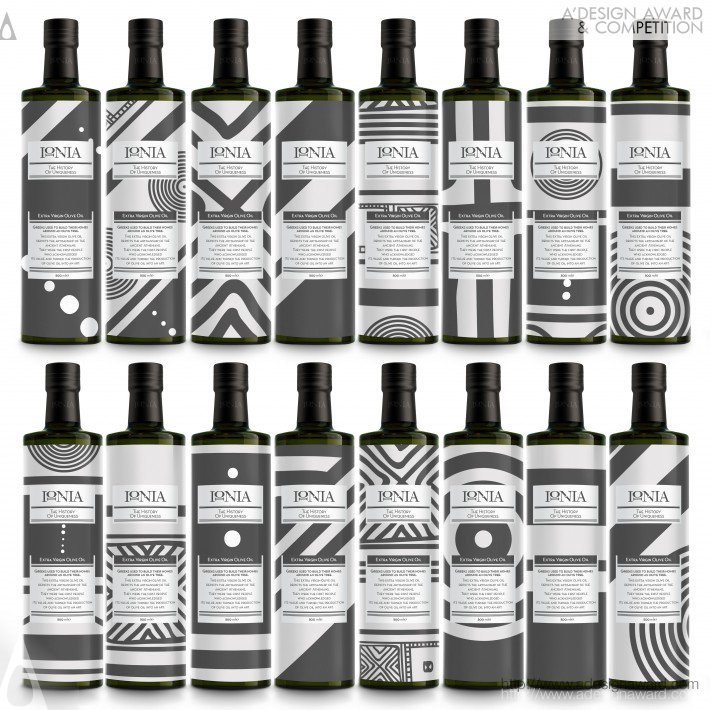 Ionia Olive Oil Packaging by Antonia Skaraki