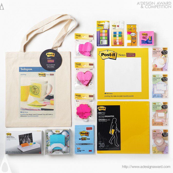 Post-It Colleague Care Kit (Media Kit Design)