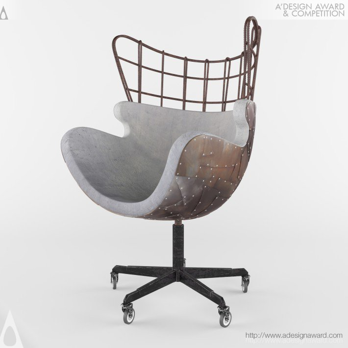 Egg of Concrete Chair by Fatemeh Fooladi