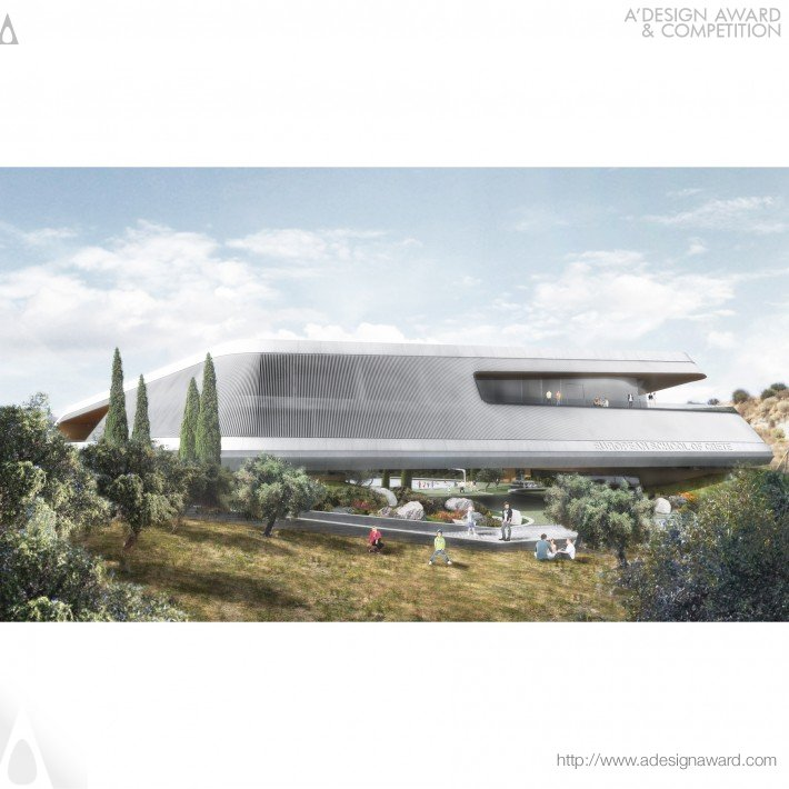 Compass – School in Crete (Bioclimatic European School Complex Design)