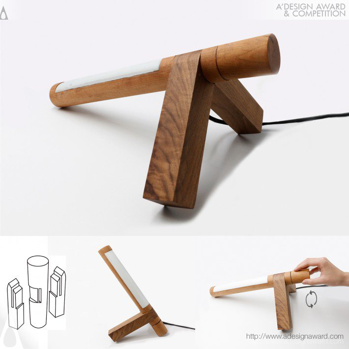 Mortise-Tenon Joint Stationery (Adjustable Lamp, Storage Box, Ink-stone Design)