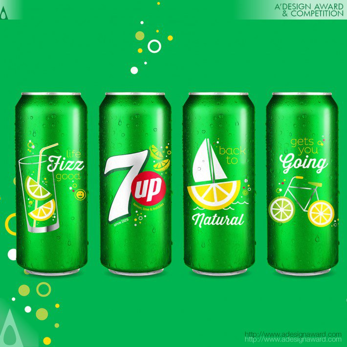 PepsiCo Design & Innovation - 7up Sip Up Summer Series Limited Edition Aluminum Cans