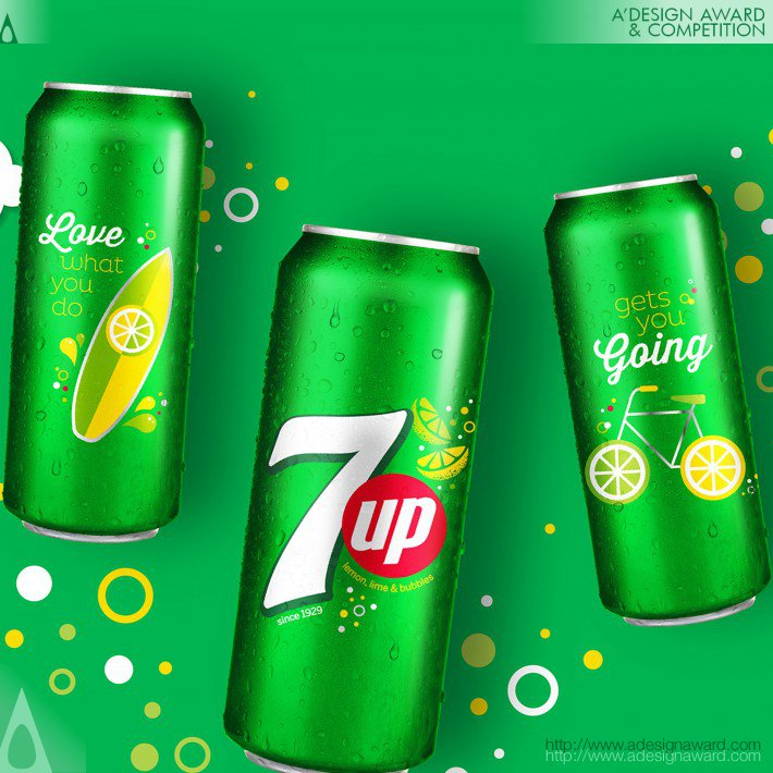 7up Sip Up Summer Series Limited Edition Aluminum Cans by PepsiCo Design & Innovation