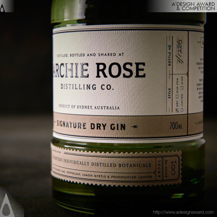 Matthew & Terry Squadrito - Archie Rose Distilling Co Spirits Range Packaging