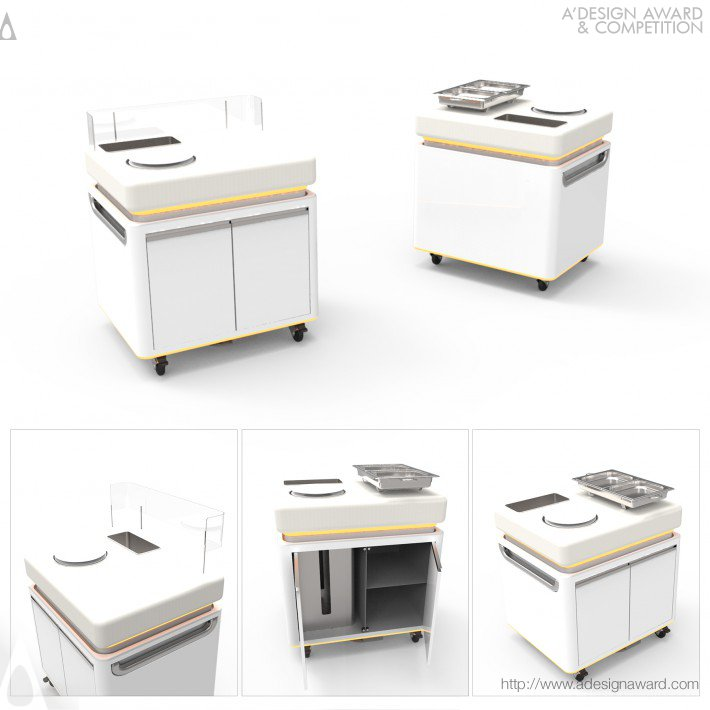 Mobile Kitchen Unit by Baris Bumin
