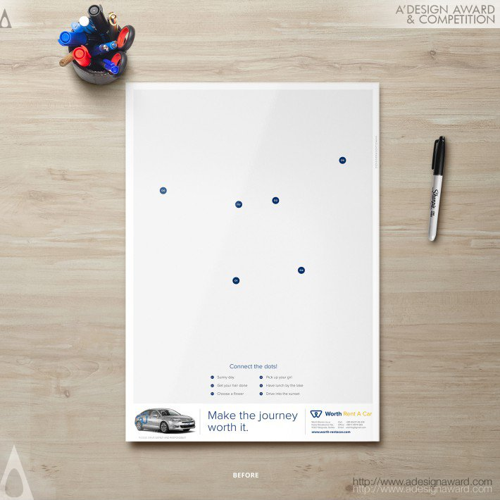 Worth (Interactive Advertising Print Design)
