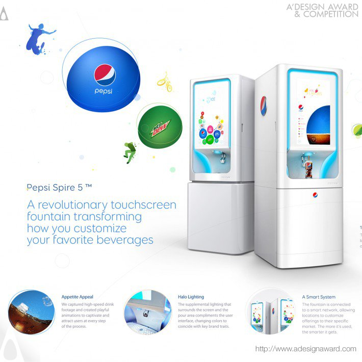 Pepsi Spire 5.0 (Interactive Dispenser Design)