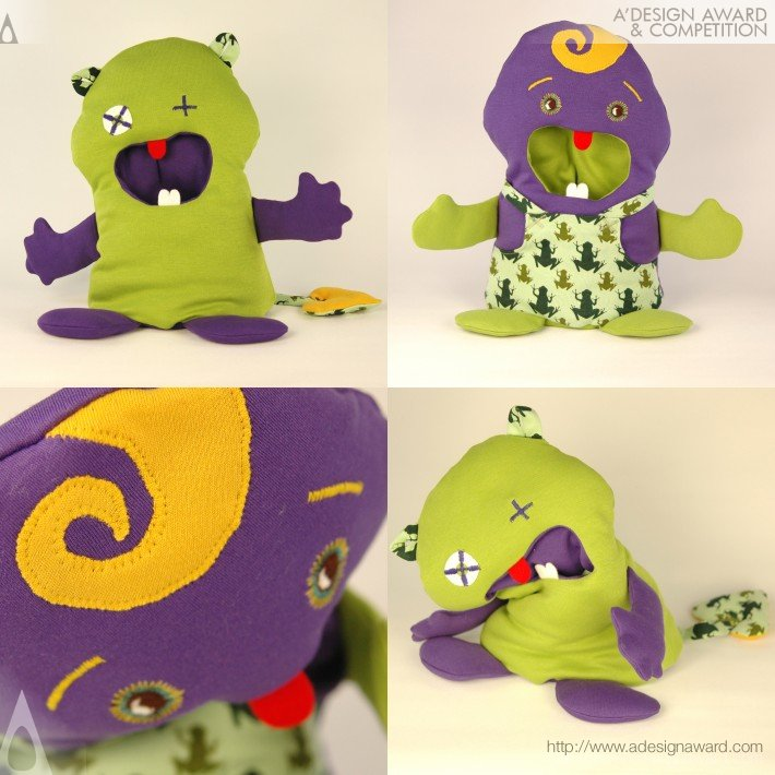 Emok Mamoki (Double Sided Organic Soft Toy Design)