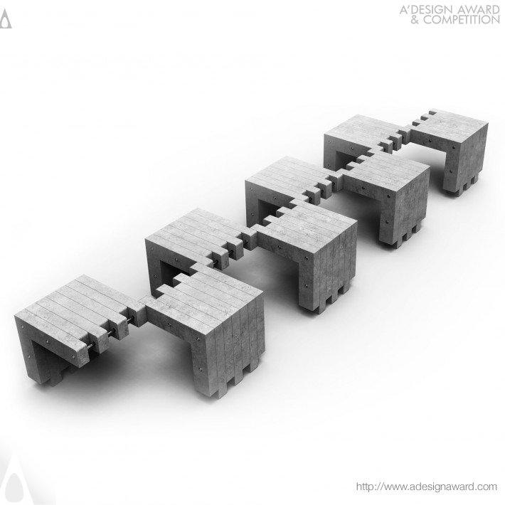 Public Seat (L-Shape Concrete Seat Design)