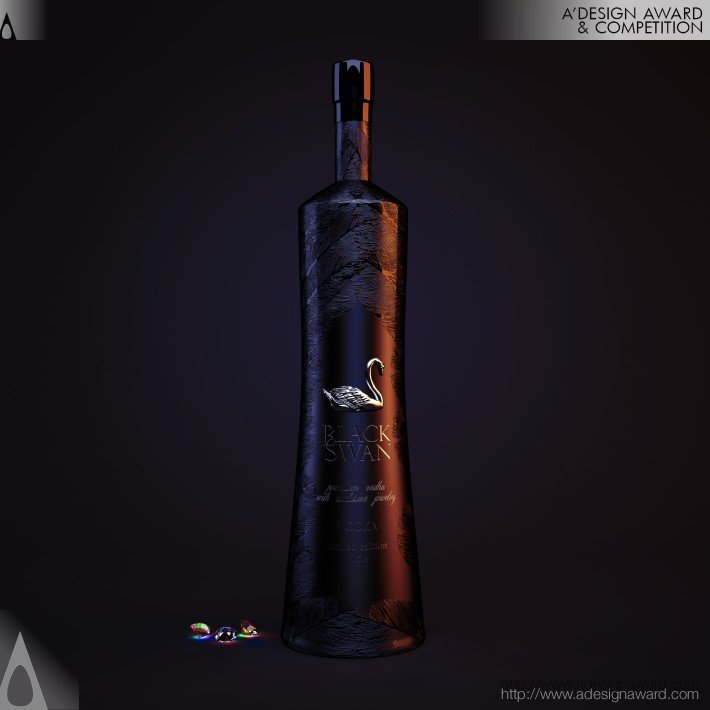 Blackswan Premium Vodka With The Jewelry by Vladimir N. Bratchenko
