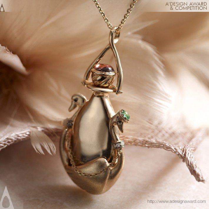 Swans in Love (Perfume Pendant Design)