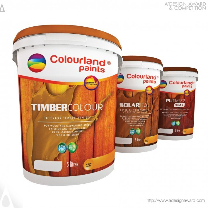 Colourland Paints-Live Up in Colours (Brand New Packaging Design For Paints Design)