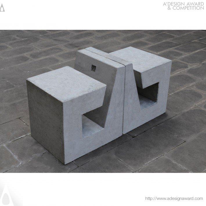 B-Shape Concrete (Public Seating Design)