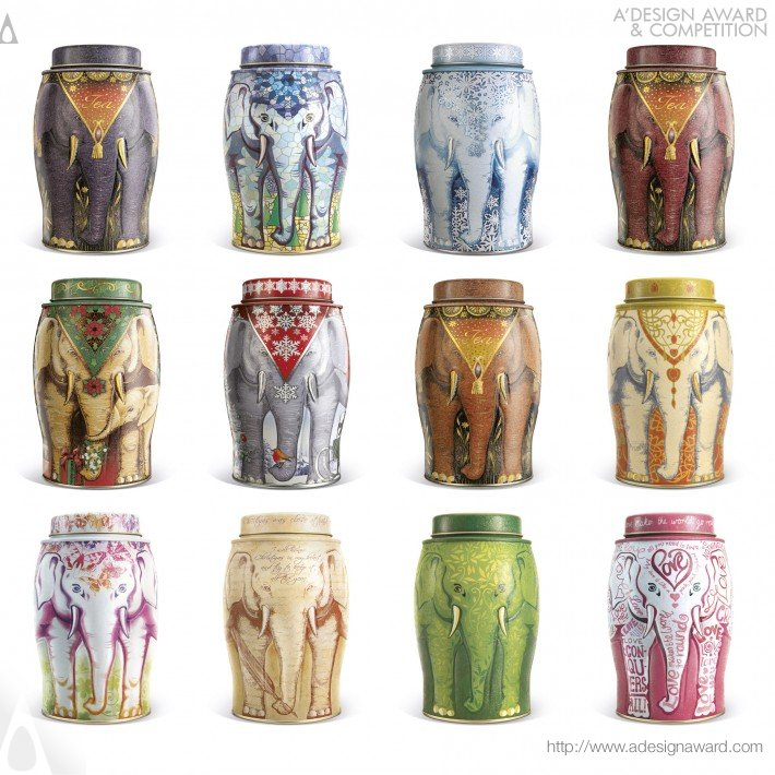 Williamson Tea Elephant Caddies (Packaging Design)