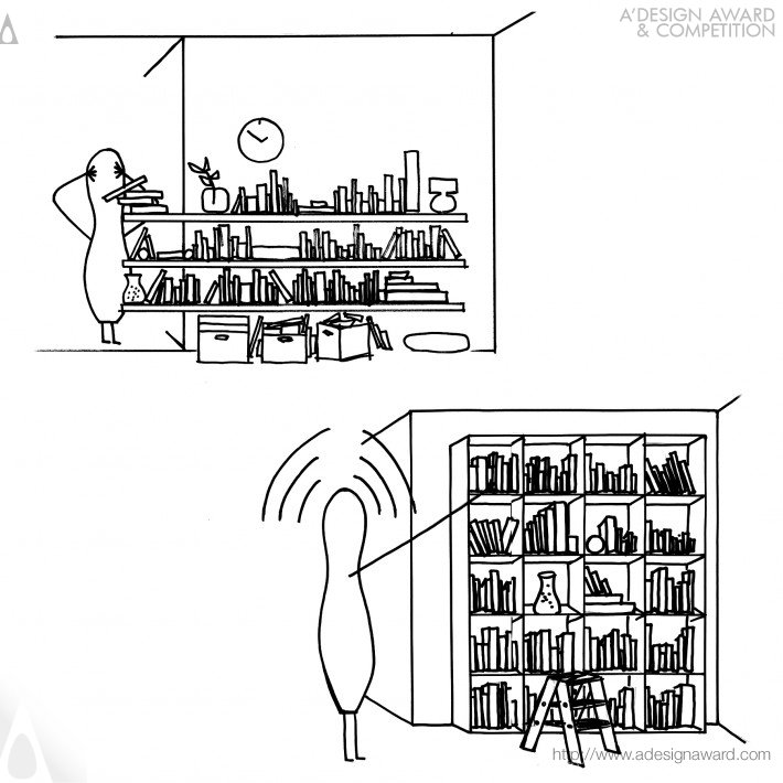 Huxley's Ladder (Book Shelf Design)