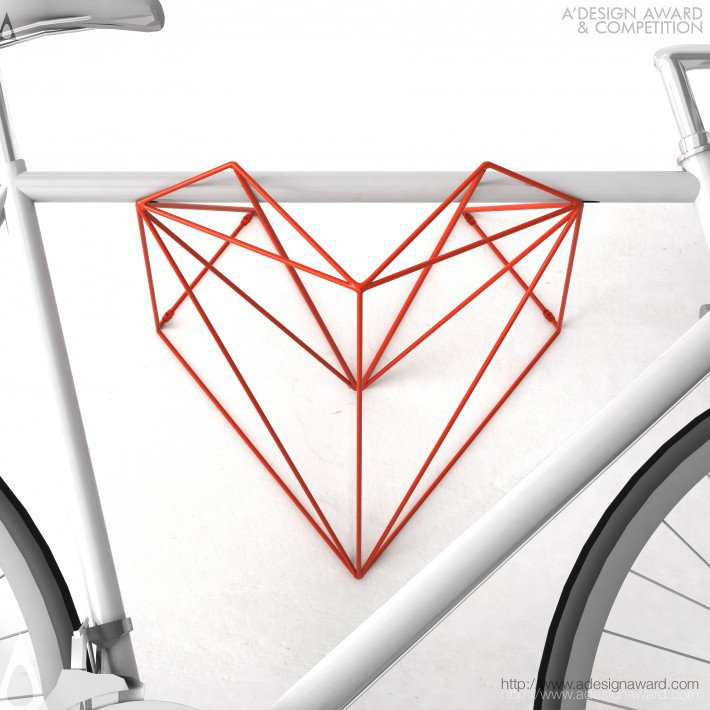 Heart Bike Hanger by Martin Foret