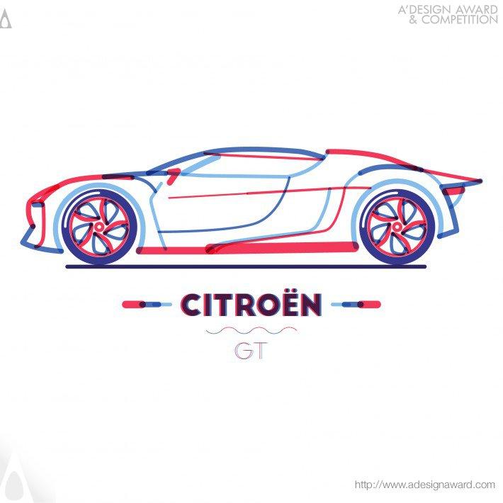 Citroen in Lines (Illustration Design)