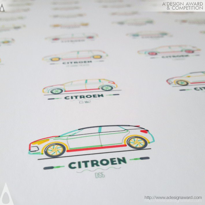 Citroen in Lines (Illustration Design)